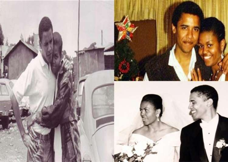 rare pictures of barack obama michelle obama and family- India Tv