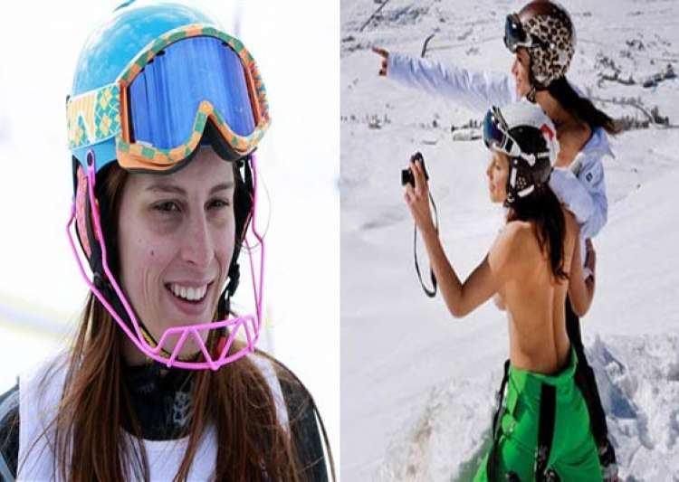 lebanese olympian skier goes topless probe ordered by- India Tv
