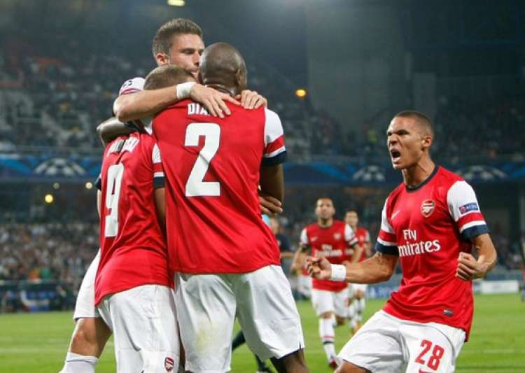 arsenal beats montpellier 2 1 in champions league- India Tv