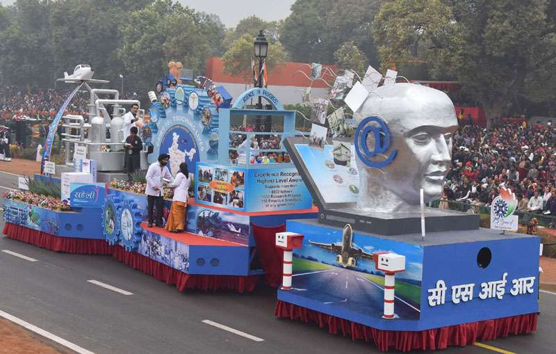The tableau of the Council of Scientific Industrial Research CSIR passes through the Rajpath, on the occasion of the 68th Republic Day Parade 2017, in New Delhi on January 26, 2017.