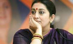 File photo of Union Minister Smriti Irani.