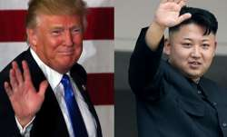 US President Donald Trump with North Korean leader Kim Jong.