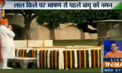 PM Modi pays his respects Mahatma Gandhi's memorial Raj