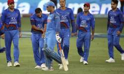 MS Dhoni the captain walks off after being dismissed