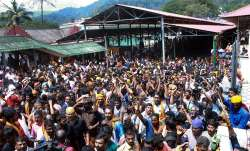 Sabarimala: Devotees protest as several female devotee