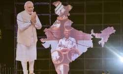 Varanasi: A cutout of Prime Minister Narendra Modi seen at