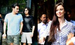 Arbaaz Khan was spotted outside a cafe with son Arhaan Khan