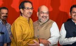 BJP President Amit Shah wih Shiv Sena chiefUddhav