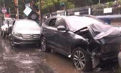 Speeding Jaguar rams into Mercedes in Kolkata