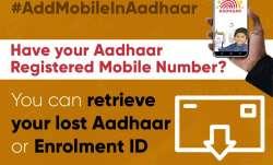 Retrieving lost or forgotten Aadhaar UID or Enrolment ID is