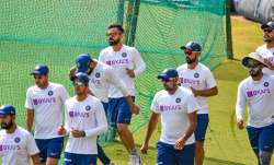 Mix and Match: Virat Kohli and Co take pink ball throwdowns in between red ball nets