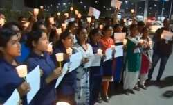 Hyderabad gangrape case: Women take out candle march at crime scene demanding justice for victim