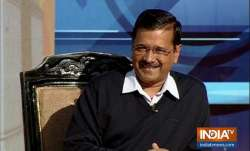 Delhi Chief Minister Arvind Kejriwal during his interaction