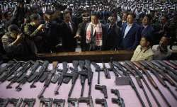 644 militants surrender with arms in Guwahati, Assam