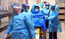 A patient suspected of having contracted coronavirus being