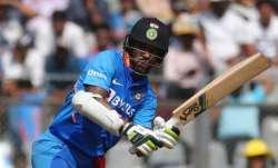Shikhar Dhawan in action against Australia in 1st ODI