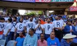Spectators protest NRC and CAA during India-Australia ODI
