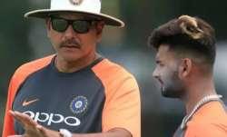 Rishabh Pant with Ravi Shastri
