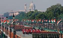 Unfurling of tricolour and 21-gun salute, India celebrates