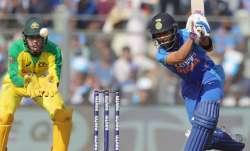 Indian skipper Virat Kohli in action against Australia in