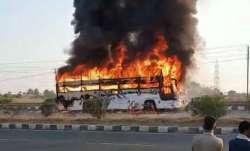 KSRTC bus catches fire in Chitradurga; 30 passengers have narrow escape