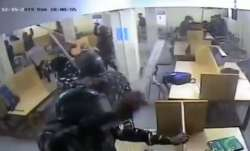 CCTV footage reveals police thrashing Jamia students inside library