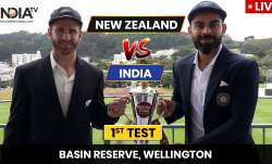 Live Score India vs New Zealand 1st Test Day 1: