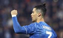 Juventus' Cristiano Ronaldo celebrates scoring his side's