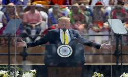President Trump weighs in on Democratic presidential race while in India