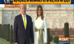 US President Donald Trump and the First Lady Melania Trump
