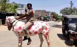 Coronavirus lockdown: Andhra cop horses it out to create COVID-19 awareness