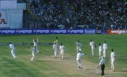 Harbhajan Singh traps Glenn McGrath of Australia for an lbw