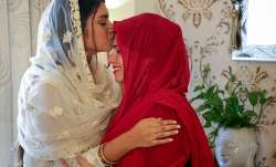 Mumbai: Family members greet each other on the occasion of