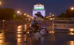 Representational image of a cyclist peddling past India