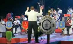 Army band performance, Independence Day, Indian Armed Forces Tri Services band performance