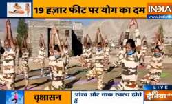 Yoga asanas by Swami Ramdev for soldiers posted at mountains