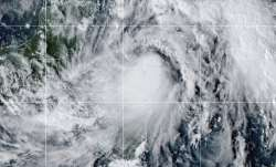 This satellite image provided by the National Oceanic and