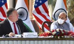 mike pompeo, rajnath singh, india us 2+2 dialogue