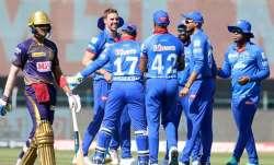 Live Score Kolkata Knight Riders vs Delhi Capitals IPL 2020: Gill departs early after DC opt to bowl