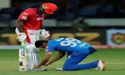 Ravichandran Ashwin and Chris Gayle