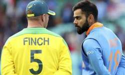 Aaron Finch and Virat Kohli