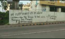 Mangaluru: Graffiti in support of terror groups Lashkar-e-Taiba, Taliban surfaces in Kadri
