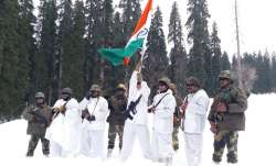 BSF celebrates Republic Day at minus 20°C in Kashmir