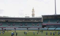Indian players train at the Sydney Cricket Ground in Sydney