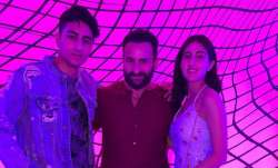 Sara Ali Khan and Ibrahim's 'day out' with daddy Saif Ali Khan; see pics