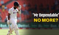 Cheteshwar Pujara has been dismissed by Jack Leach on four