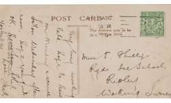 A photo copy of a postcard, provided by RR Auction, with a