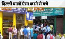 lockdown in delhi, delhi liquor shops, delhi liquor shops open