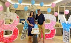 Geeta Basra's surprise baby shower was all about zoom call, adorable cake featuring sleepy Harbhajan