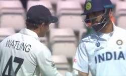 WTC Final: Watch Kohli's heartwarming gesture for BJ Watling on wicketkeeper's final day in int'l cr